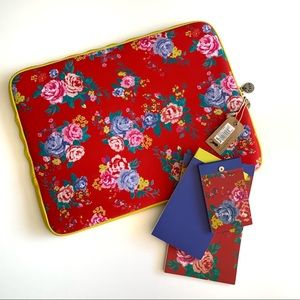 NWT Typo Floral Laptop Case and Memo Pads